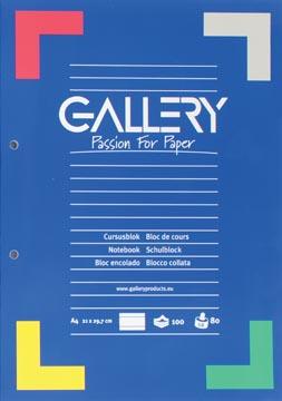 Gallery bloc de cours, ligné, papier de 80 g/m²