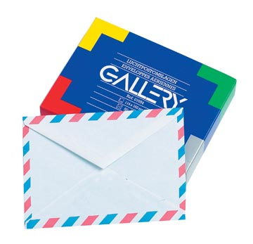 Enveloppes par avion boîte de 50 pièces