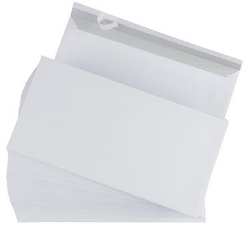 Gallery enveloppes, ft 110 x 220 mm, bande adhésive, boîte de 500 pièces