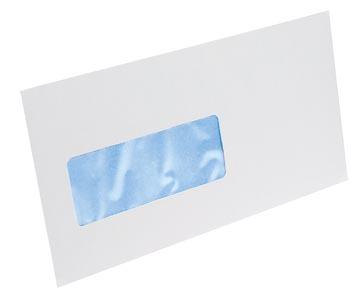 Gallery enveloppes, ft 114 x 229 mm, bande adhésive, fenêtre à gauche (ft 40 x 110 mm)