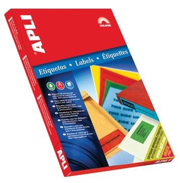 Apli Etiquettes colorées ft 70 x 37 mm (l x h), rouge, 2.400 pièces, 24 par feuille