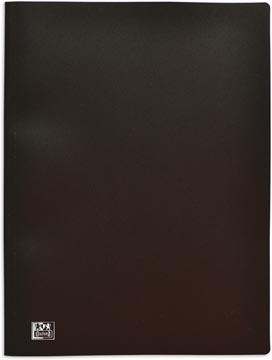 OXFORD protège documents, format A4, en PP fort, 100 pochettes, noir