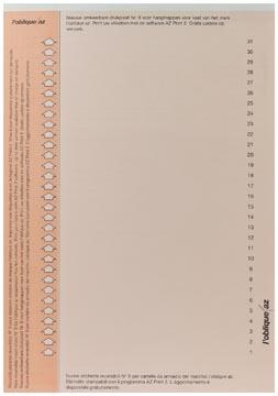 Elba onglets type 9, feuille de 31 étiquettes, orange