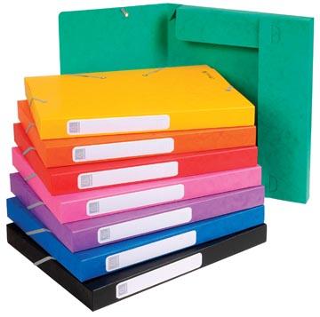 Exacompta Boîte de classement Cartobox dos de 2,5 cm, couleurs assorties: vert, bleu, jaune, rouge, or...
