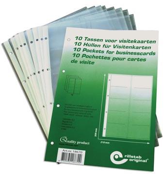 Rillstab 10 pochettes de cartes de visite PP A4 4 anneaux