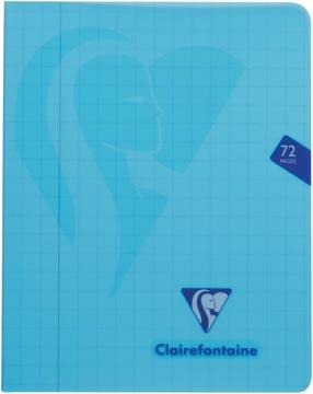 Clairefontaine cahier mimesys pour ft A5, 72 pages, couverture en PP, quadrillé 10 mm, couleurs assorties