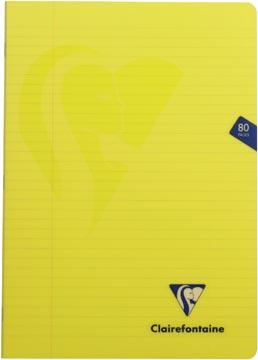 Clairefontaine cahier mimesys pour ft A4, 80 pages, couverture en PP, ligné, couleurs assorties