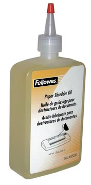 Fellowes huile pour destructeurs de documents, flacon de 350 ml