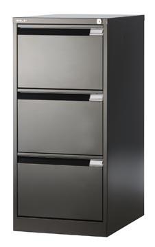 Bisley classeur dossiers, ft 101,6 x 47 x 62,2 mm (h x l x p), 3 tiroirs, noir