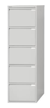Bisley classeur dossiers, ft 151 x 47 x 62,2 mm (h x l x p), 5 tiroirs, gris