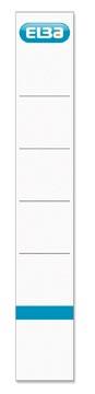 Elba étiquettes de dos, dos de 5 cm, ft 19 x 3 cm, blanc, 10 pièces