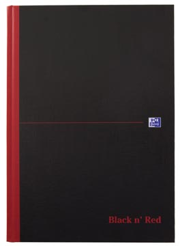 Oxford BLACK N' RED cahier rembordé, 192 pages, ft A4, quadrillé 5 mm