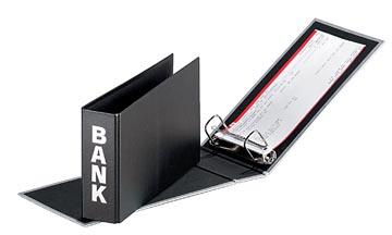 Pagna classeur à anneaux (CCP) ft 14 x 25 cm, noir, typographie en argent, exécution mate avec motif