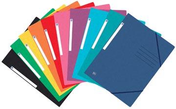 Oxford Top File+ farde à rabats, pour ft A4, couleurs assorties, paquet de 25 pièces
