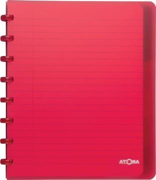 Atoma cahier ft A5+, ligné, avec 6 intercalaires, en couleurs assorties