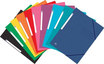 Oxford Top File+ farde à rabats, pour ft A4, couleurs assorties
