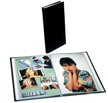 Rillstab protège-documents, ft A4, 20 pochettes, noir