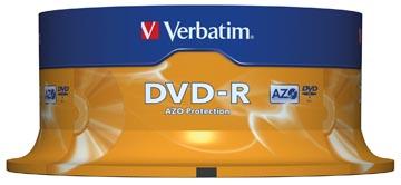 Verbatim DVD enregistrable DVD-R, spindle de 25 pièces