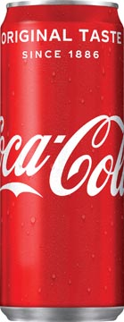 Coca-Cola boisson rafraîchissante, sleek canette de 33 cl, paquet de 30 pièces