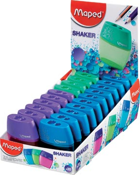 Maped taille-crayons Shaker 2 trous, en boîte