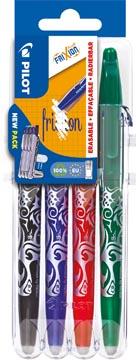 Pilot roller Frixion Ball Set 2 Go blister de 4 pièces: noir, bleu, rouge et vert