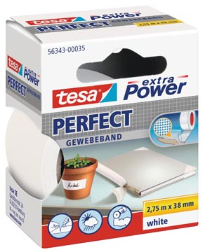 Tesa extra Power Perfect, ft 38 mm x 2,75 m, blanc
