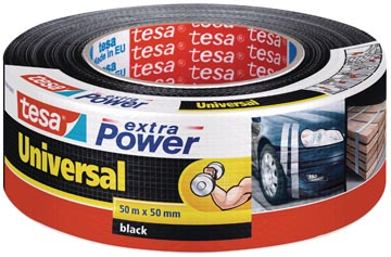 Tesa extra Power Universal, ft 50 mm x 50 m, noir