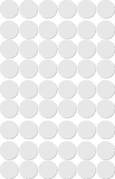 Apli étiquettes rondes en pochette diamètre 13 mm, blanc, 210 pièces, 35 par feuille (2661)