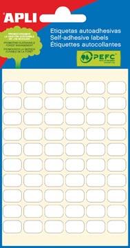 Apli étiquettes blanches ft 8 x 12 mm (l x h), 360 pièces, 60 par feuille (2667)