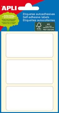 Apli étiquettes blanches ft 34 x 67 mm (l x h), 18 pièces, 3 par feuille (2684)