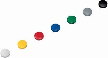 Maul aimant Solid, diamètre 24 mm x 8 mm, couleurs assorties, boîte de 10 pièces