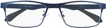 SILAC Blue Metal lunettes de lecture, métal san nickel bleu mat, +1,50