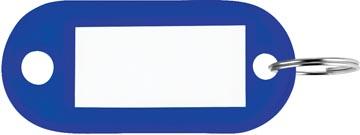 Porte-clés, bleu, boîte de 100 pièces