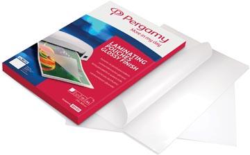 Pergamy pochette à plastifier, ft 67 x 99 mm, 250 microns (2 x 125 microns), paquet de 100 pièces