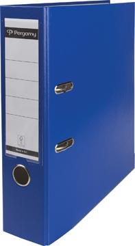 Pergamy classeur, pour ft A4, en carton recouvert de PP, dos de 8 cm, bleu