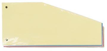 Pergamy intercalaires trapézoïdaux, paquet de 100 pièces en couleurs assorties