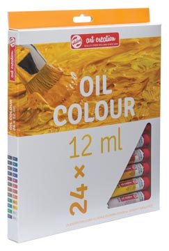 Talens Art Creation peinture à l'huile, tube de 12 ml, set de 24 tubes en couleurs assorties