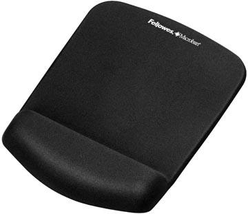 Fellowes PlushTouch tapis souris avec repose-poignet, noir