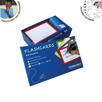 Correctbook Flashcards , fiches effaçables / réutilisables, ligné, boîte de 144 pièces