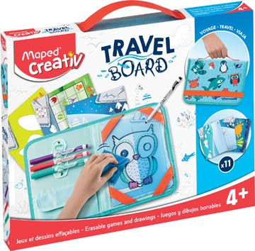 Maped Travel Board tableau blanc transparente animaux