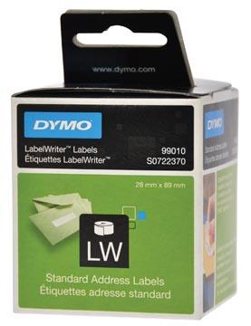 Dymo étiquettes LabelWriter, ft 89 x 28 mm, blanc, 260 étiquettes