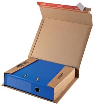 Colompac boîte d'expédition pour classeurs CP050, ft 32 x 29 x 3,5-8 cm, brun
