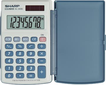 Sharp calculatrice de poche EL-243S