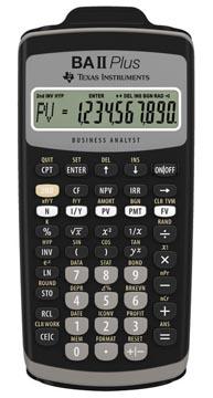 Texas calculatrice financière BA II Plus