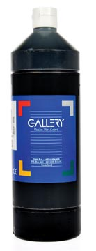 Gallery gouache, flacon de 1.000 ml, noir
