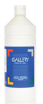 Gallery gouache, flacon de 1.000 ml, blanc