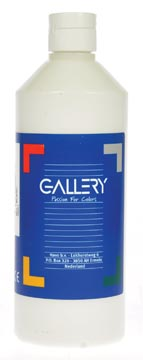 Gallery gouache, flacon de 500 ml, blanc