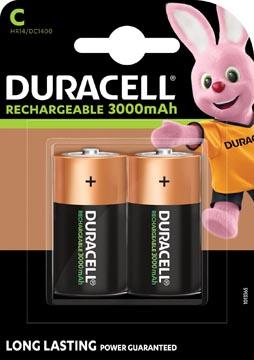Duracell piles rechargeables C, blister de 2 pièces