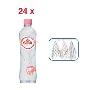 ACTION SPA: 1 x Touch of grapefruit, eau, 50 cl, 24 pièces (51876) + GRATUIT 1 x Spa serviette de cuisine