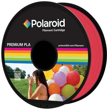 Polaroid 3D Universal Premium PLA filament, 1 kg, rouge transparant